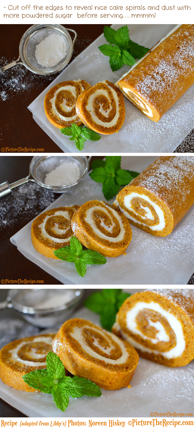 Pumpkin Spice Roll Recipe With Maple Cream Cheese- By PictureTheRecipe