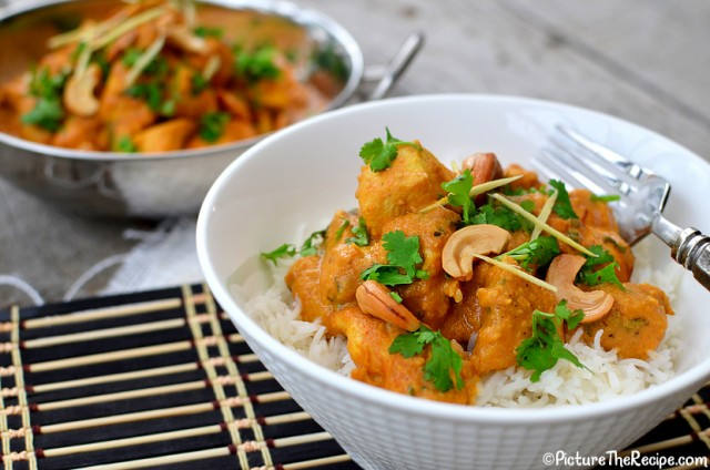quick chicken curry recipe! This dish is made with cashews, cashew