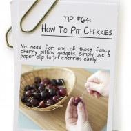 How To Pit Cherries