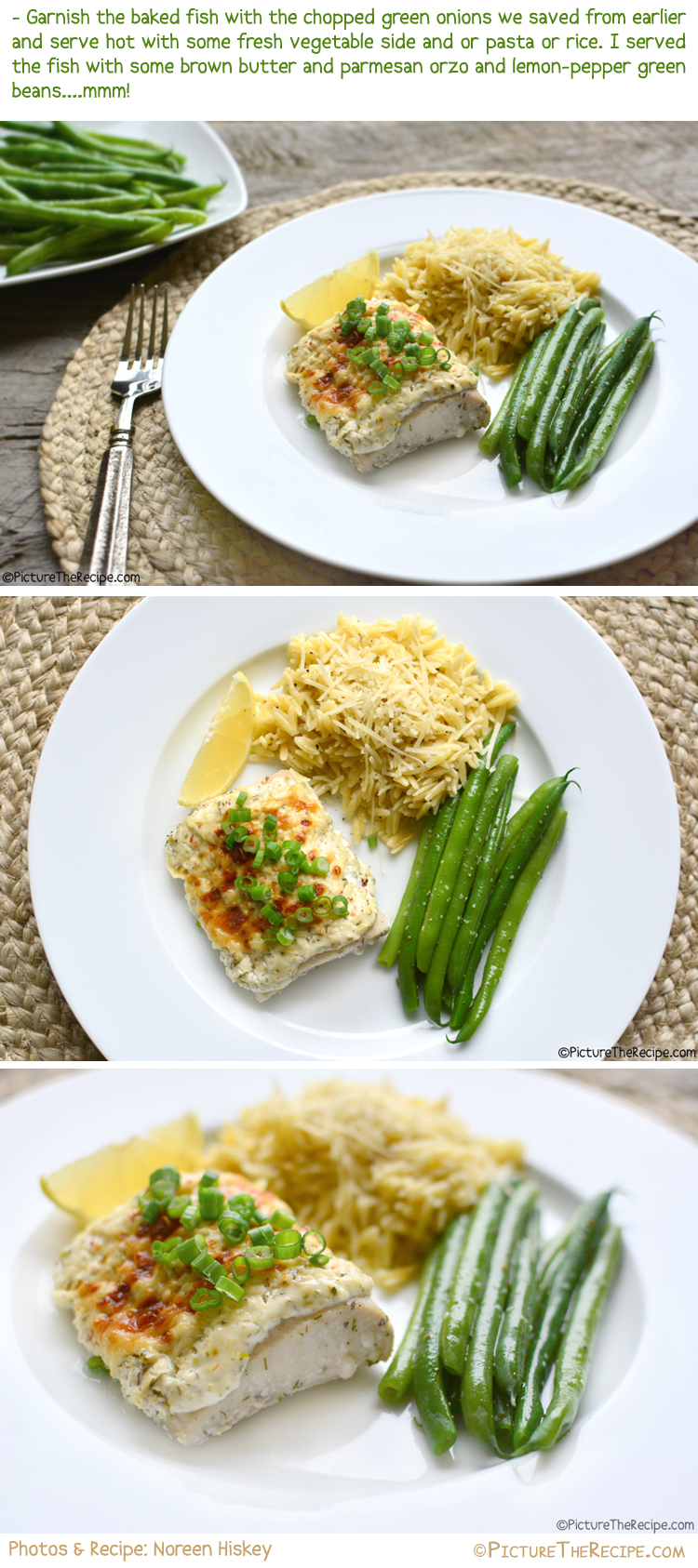 Baked Fish with Dill Sour Cream Topping Recipe by PictureTheRecipe
