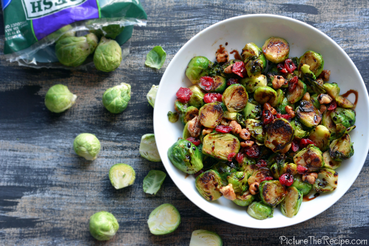 Brussel Sprouts Overhead- PictureTheRecipe