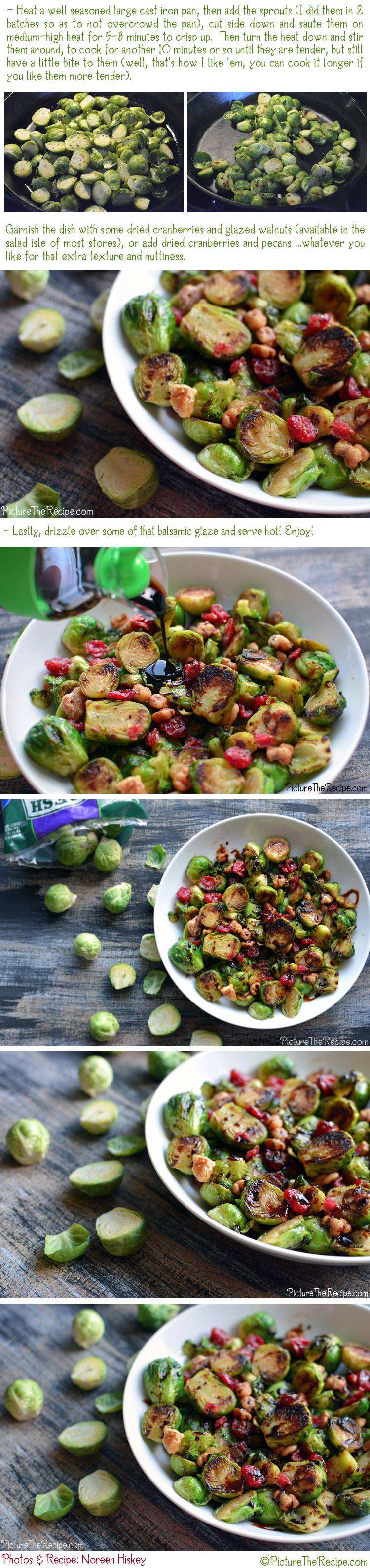 Brussels Sprouts With Cranberries and Balsamic Drizzle Recipe - Part2