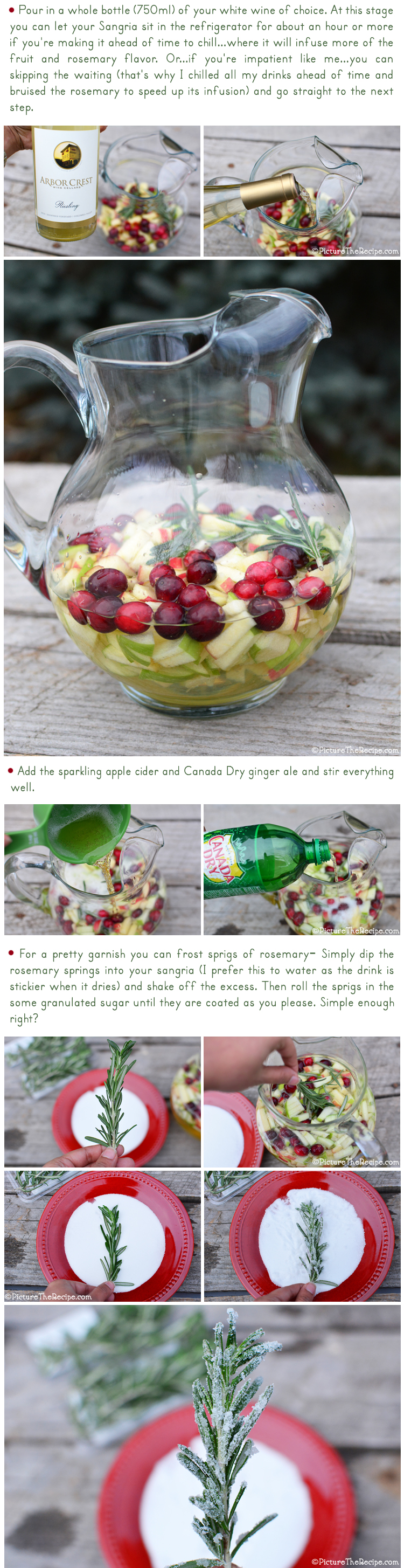 Holiday White Wine Sangria Recipe by PictureTheRecipe- Part 2