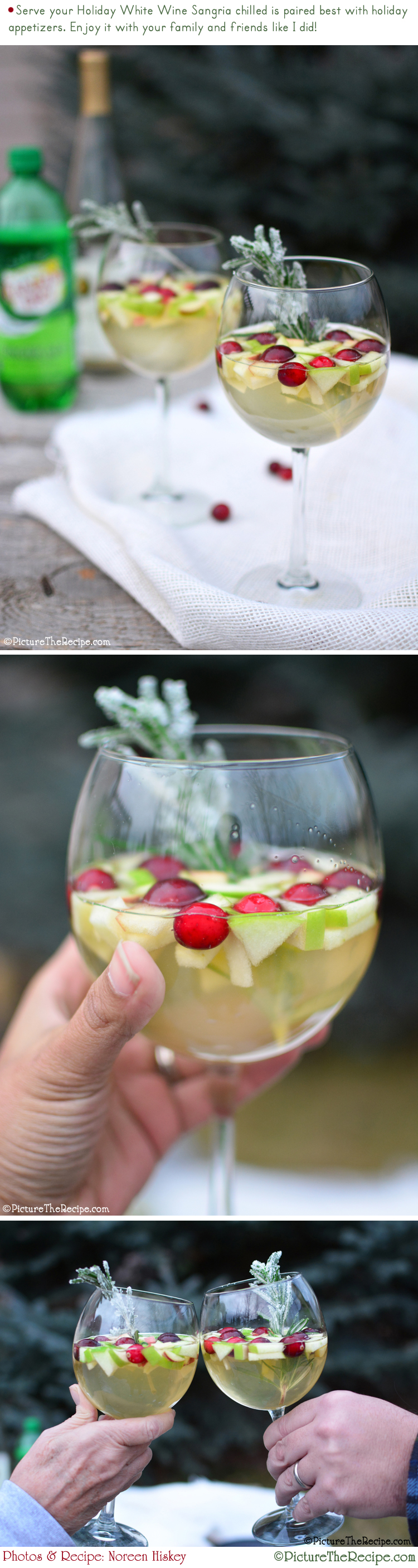 Holiday White Wine Sangria Recipe by PictureTheRecipe