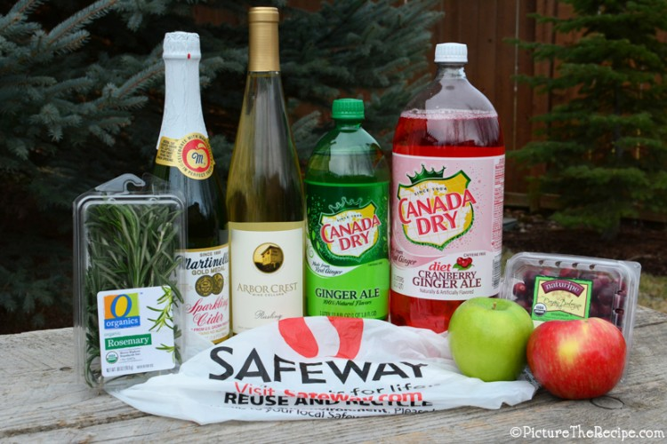 White Holiday Sangria- Ingredients (PictureTheRecipe)