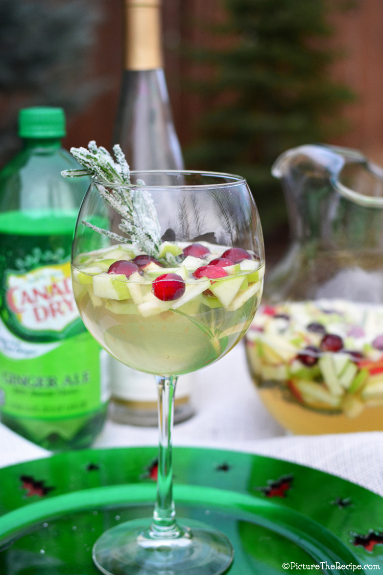 White Holiday Sangria by PictureTheRecipe