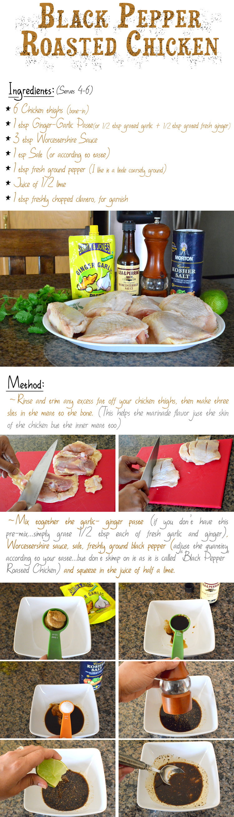 Black Pepper Roasted Chicken Recipe- PictureTheRecipe com (Part1)