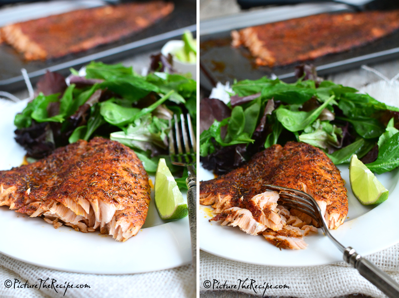 Blackened Salmon by PictureTheRecipe.com