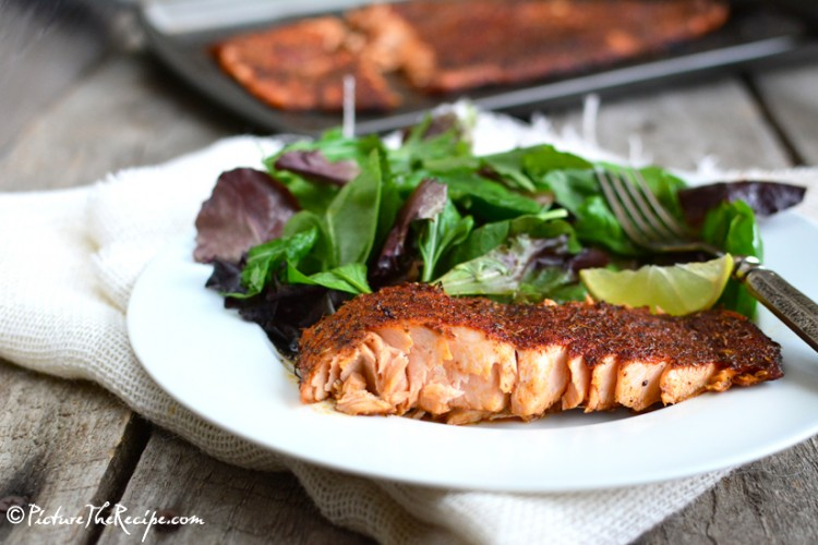 Blackened Salmon (Homemade Seasoning)