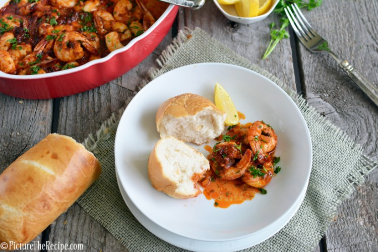 Spicy BBQ Shrimp (New Orleans Style) - Bold, spicy, buttery and messy…this drool-worthy shrimp dish is just the thing to satisfy winter cravings!   PictureTheRecipe.com