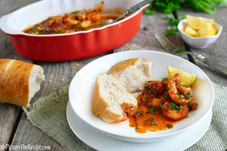 Spicy BBQ Shrimp - New Orleans Style - Bold, spicy, buttery and messy…this drool-worthy shrimp dish is just the thing to satisfy winter cravings!   PictureTheRecipe.com