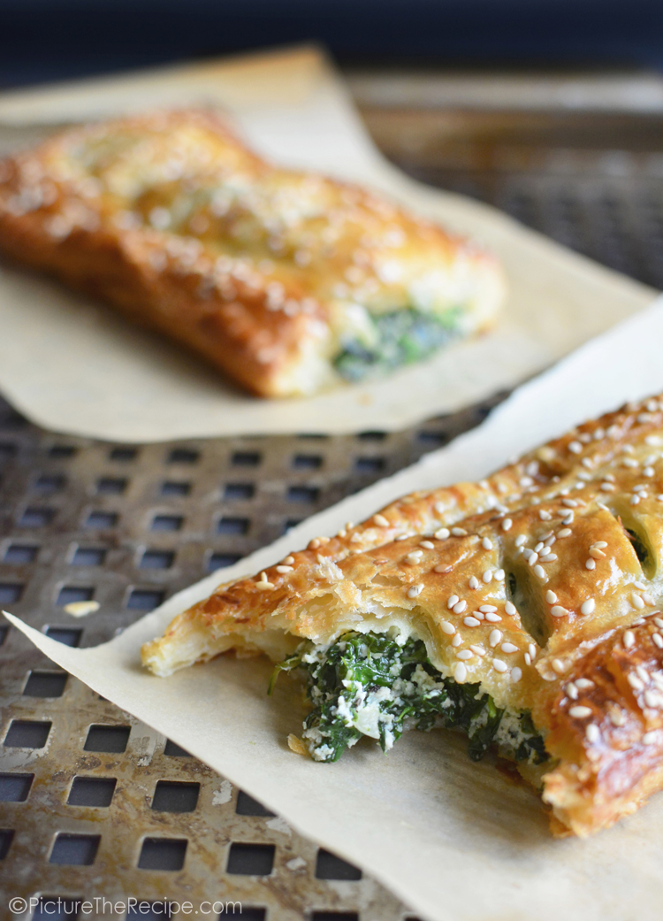 Spinach Puff Pastry Rolls With Feta And Ricotta Picture