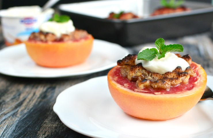 Broiled Grapefruit with Gluten-Free Streusel