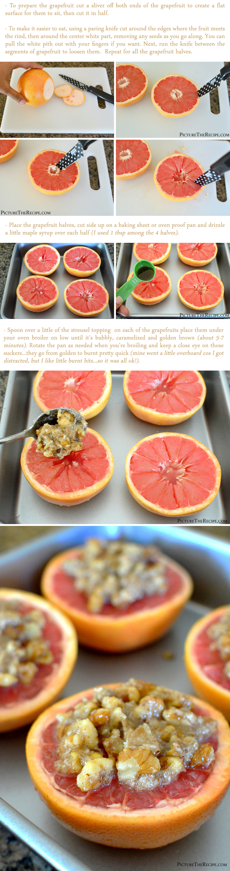 Broiled Grapefruit with Gluten-Free Streusel Recipe (Part-2)