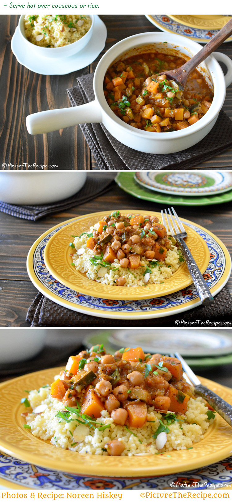 Moroccan Chickpea Stew Recipe by PictureTheRecipe com