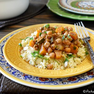 Moroccan Stew with Chickpea and Butternut Squash by PictureTheRecipe com