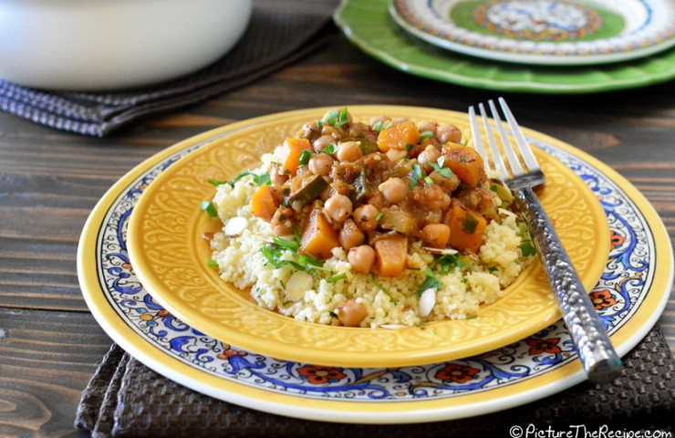 Moroccan Butternut Squash Chickpea Stew Recipe — Dishmaps