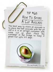 Picture The Recipe Tips - How To Store A Cut Avocado
