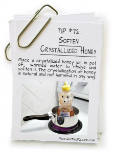 Picture The Recipe Tips - Soften Crystallized Honey