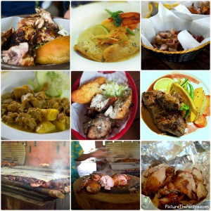 Jamaican Food Collage