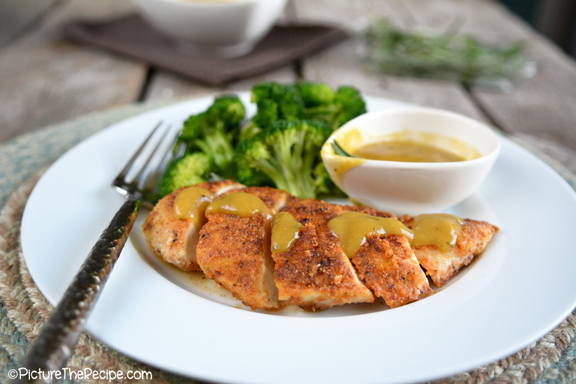 Almond Crusted Chicken and Maple Dijon Sauce - PictureTheRecipe com