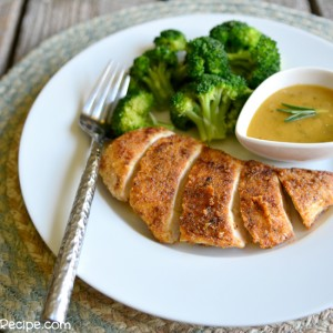 Almond Crusted Chicken w Maple Dijon Sauce - PictureTheRecipe com