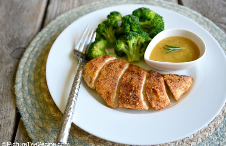 Almond Crusted Chicken with Maple Dijon Sauce (Gluten-Free)