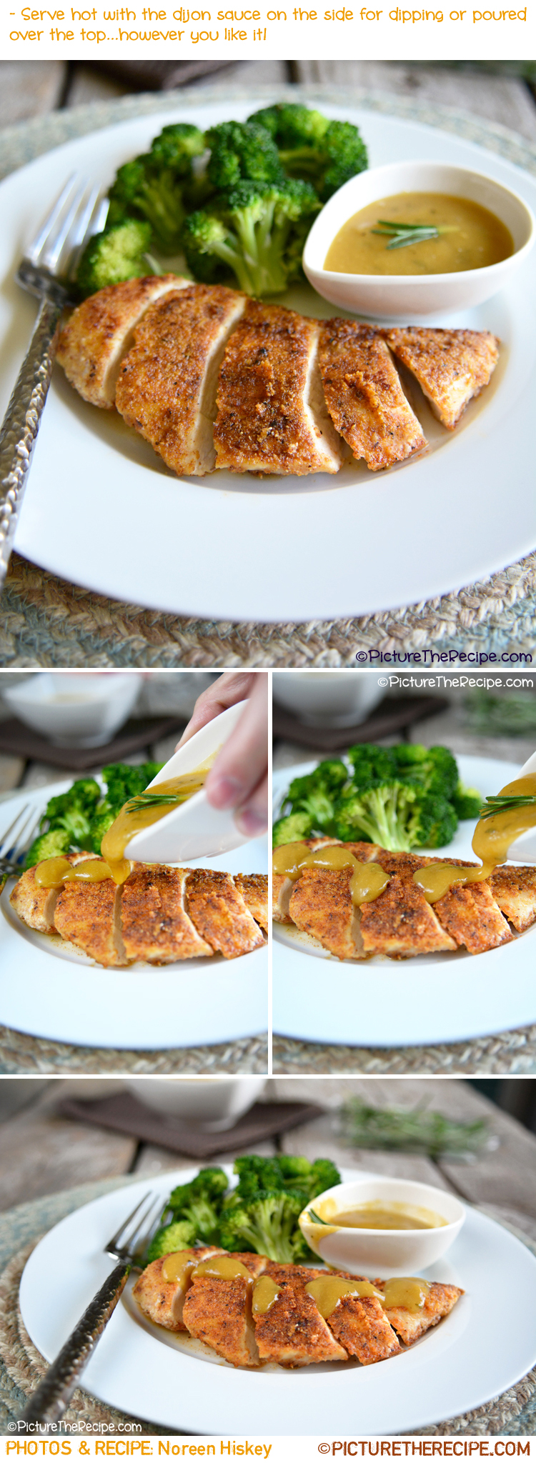 Almond Crusted Chicken with Maple Dijon Sauce by PitcureTheRecipe