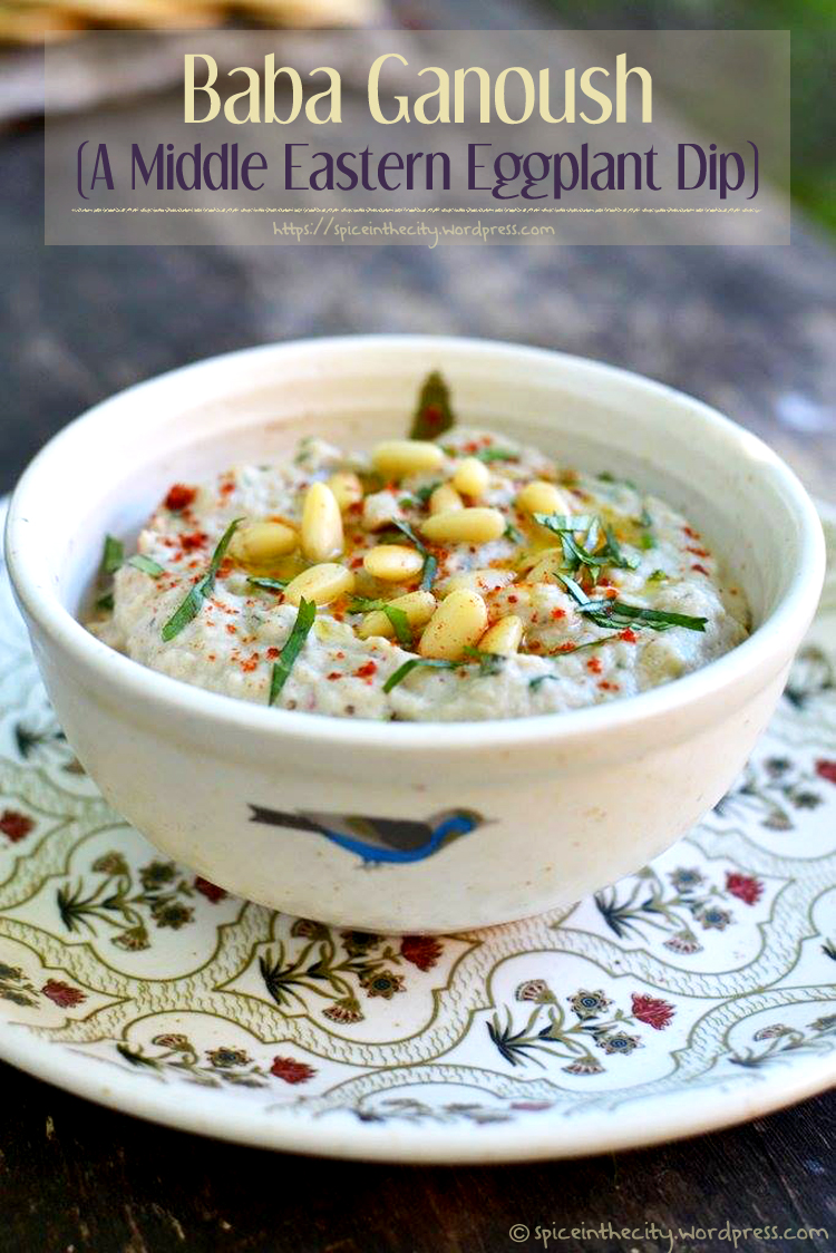 Baba Ganoush (A Middle Eastern Eggplant Dip) - PictureTheRecipe