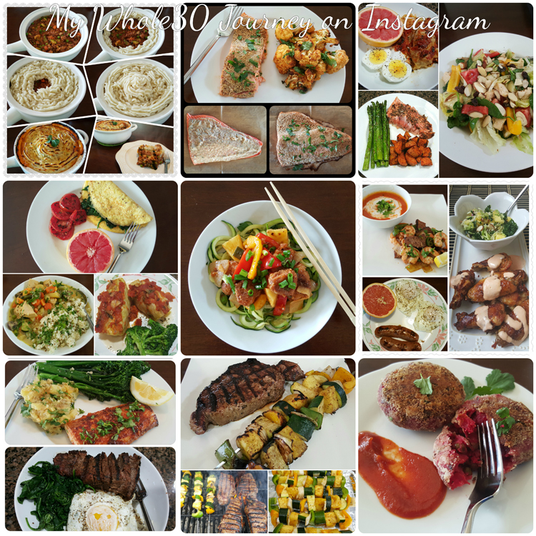 My Whole30 Journey on Instagram- PictureTheRecipe