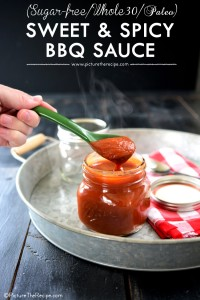 Whole30 Paleo Sweet and Spicy BBQ Sauce by PictureTheRecipe