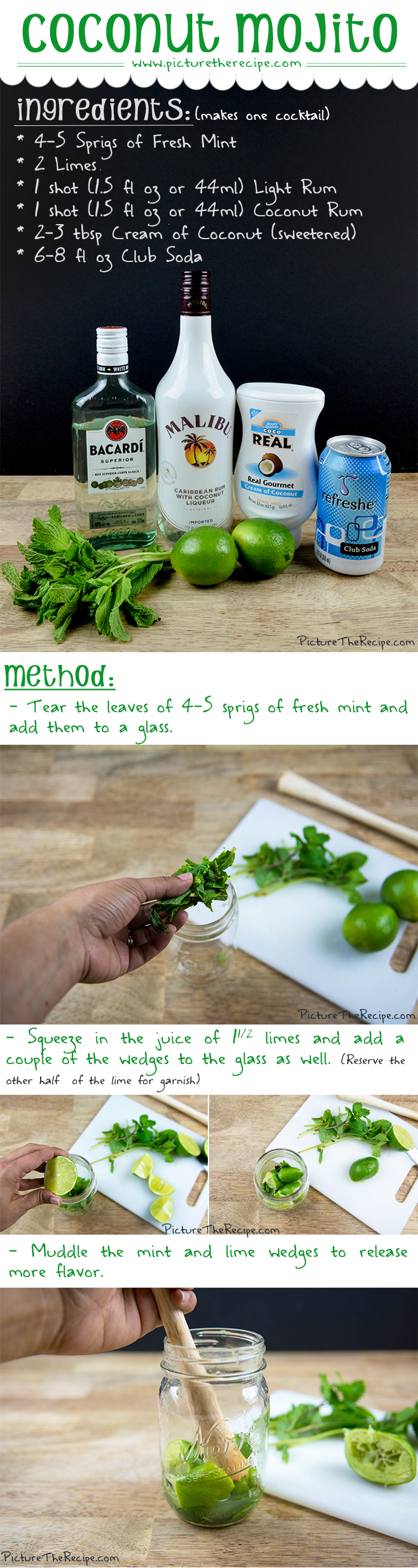 Coconut Mojito Recipe by PictureTheRecipe com Part-1