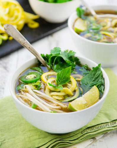Instant Pot Chicken Pho with Zoodles