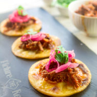 Chipotle Pulled Pork Masa Cakes
