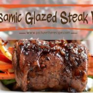 Balsamic Glazed Stuffed Steak Rolls