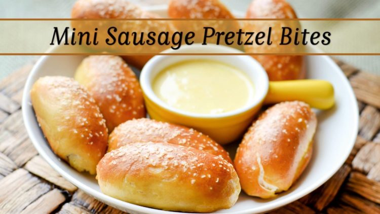 Mini Hot Dog Pretzel Bites