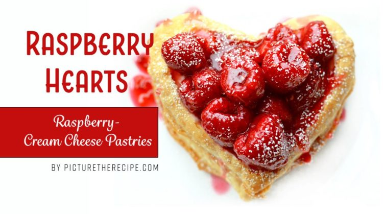 Raspberry Hearts – A Raspberry, Cream Cheese Dessert
