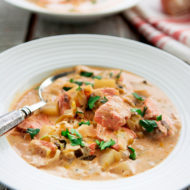Salmon Chowder With Leeks & Potatoes