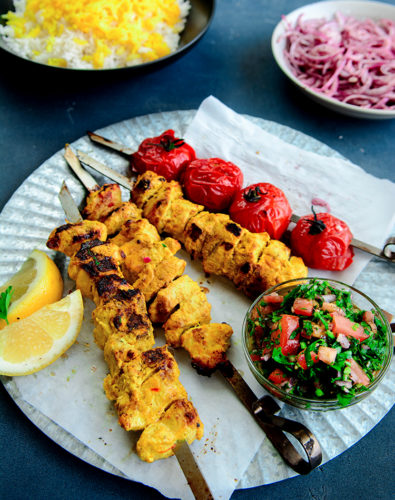 Persian Chicken Joojeh Kebabs
