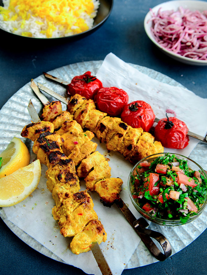 Persian Chicken Joojeh Kebabs Picture The Recipe