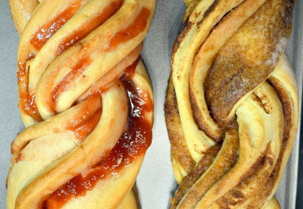 Twisty Strawberry Jam Bread
