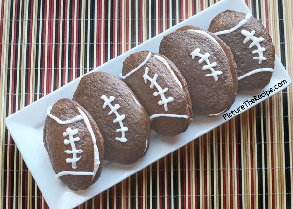 Game Day Snacks: Football Whoopie Pies