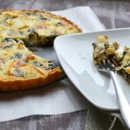 Spinach, Mushroom & Goat Cheese Quiche
