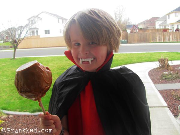 Halloween Caramel Apple Prank