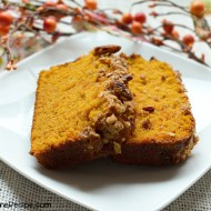 Pumpkin Bread with Pecan Streusel Topping