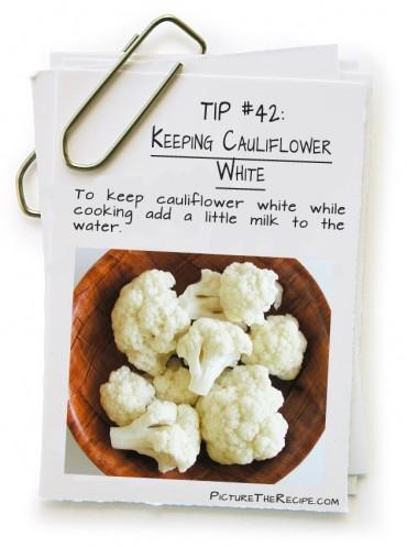 Keeping Cauliflower White