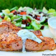 Greek Marinated Salmon with Tzatziki Sauce