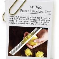 Freeze Lemon/ Lime Zest
