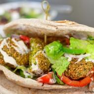 Falafel Pita With Turkish Salad and Tahini Sauce