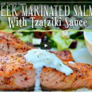 How To Make Greek Marinated Salmon with Tzatziki Sauce